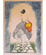 Topless lady basket apples breast Louis ICart Art Deco 5 x 7  photo print - $1.98