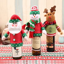 1pcs Wine Bottle Cover Gift Bag Xmas Dinner Party Table Decoration Supplies - $7.59 CAD