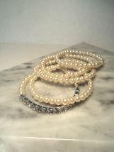 Avon Pretty Pearlesque and Rhinestone Stretch Bracelet Set New 2011 image 4