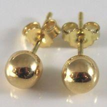 Gelbgold Ohrringe 750 18K, Kugel, Poller, Kugeln, Verschluß Schmetterling image 3