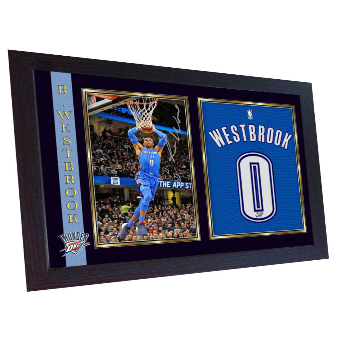 Russell Westbrook OklahomaThunder signed autograph photo print NBA OKC Framed