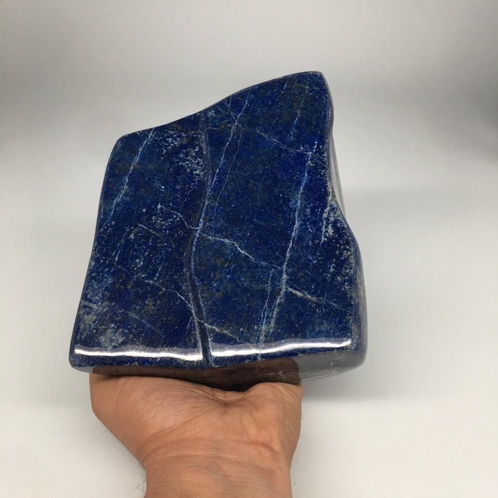"7""x5.25"", 3154g, Natural Polished Lapis Lazuli  Free Form @Afghanistan,PL33"