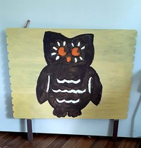 Painted Owl Wood Yard Sign, welcome sign for front porch - $40.00
