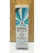Bare Republic / Mineral Sunscreen Face Gel Lotion / SPF 30 / Oil Free / ... - $12.02