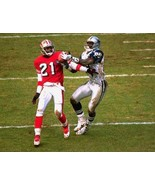 MICHAEL IRVIN & DEION SANDERS 8X10 PHOTO 49ers COWBOYS NFL FOOTBALL MUDD... - $3.95