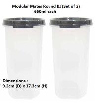Tupperware Modular Mates Round III (Set of 2)  ... - $29.99