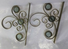 PartyLite Set of 2 Tranquil Light Wall Brackets, Vintage, Retired - $39.60