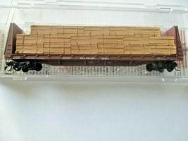 Micro-Trains # 05400290 Seaboard 61' Bulkhead Flat Car with Lumber Load N-Scale image 1