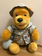 "Disney ""Safari Winnie the Pooh Bear"" Plush 8"" Stuffed Bear Animal Kingdom - $11.00"