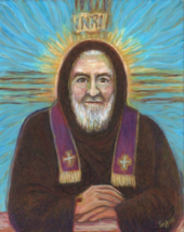 "PADRE PIO—Stigmata—13x17""—Catholic Art—Archival Print—Confirmation Gift - $29.95"