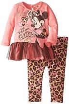 Disney Toddler Girl's Tunic & Leggings Set Minnie Mouse Glam Girl NEW - $10.66
