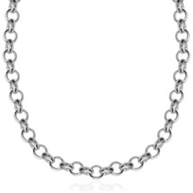 Sterling Silver Rhodium Plated Classic Rolo Chain Necklace - $212.66