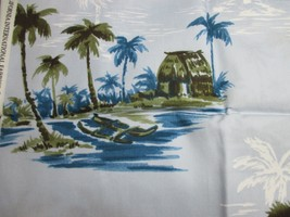 1/2 yard of Island Print Fabric, Hoffman California International 2011RP... - $4.25