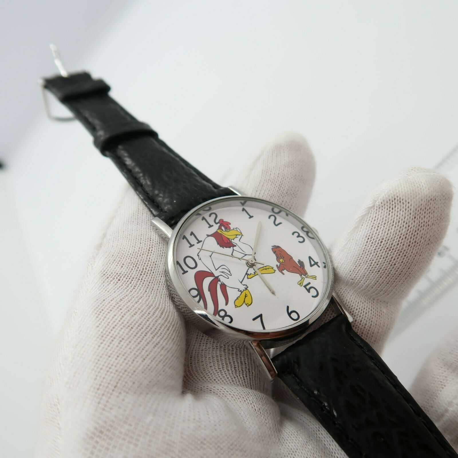 "FOGHORN LEGHORN,& Henry Hawk ""I Eat Chickens"" ,BIG MEN'S CHARACTER WATCH,M-83"