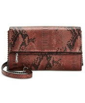INC International Concepts Averry Embossed Tunnel Foldover Crossbody $60 - $34.42