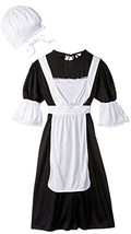RG Costumes Pilgrim Girl Costume, Black/White, Medium - $30.67
