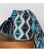 Authentic 100% Wayuu Mochila Colombian Bag mini Size geometric multicolo... - $34.50