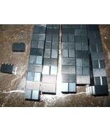 Lego 1x2 Brick Grill Profile Black lined line 1 x 2 brick star wars ect - $12.98