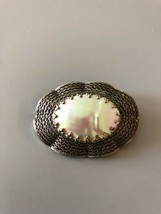 Vintage Mother Of Pearl Brooch Signed Made In Germany - $11.39
