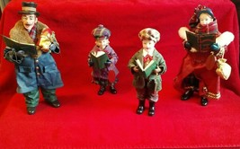 Clothtique Possible Dreams 2001 Set of 4 The Carolers Father/Mother/2 ki... - $179.99