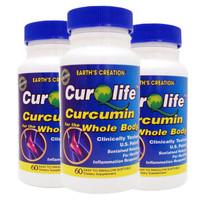 3PK CurQLife - Water Based Organic Curcumin (Tumeric) Optimized for Join... - $74.20