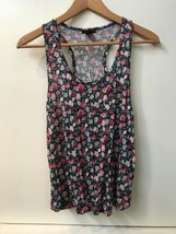 Forever 21 Blue Floral Print Tank Top with  pocket size Small Labeled L - $6.95
