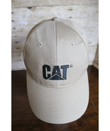 CAT Caterpillar Heavy Equipment Tractor Cap Brown Tan Baseball Hat Adjus... - $29.02