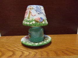 Yankee Candle Laundry Clothesline Shade Topper w/Base Plate for Small Jar Candle - $15.99