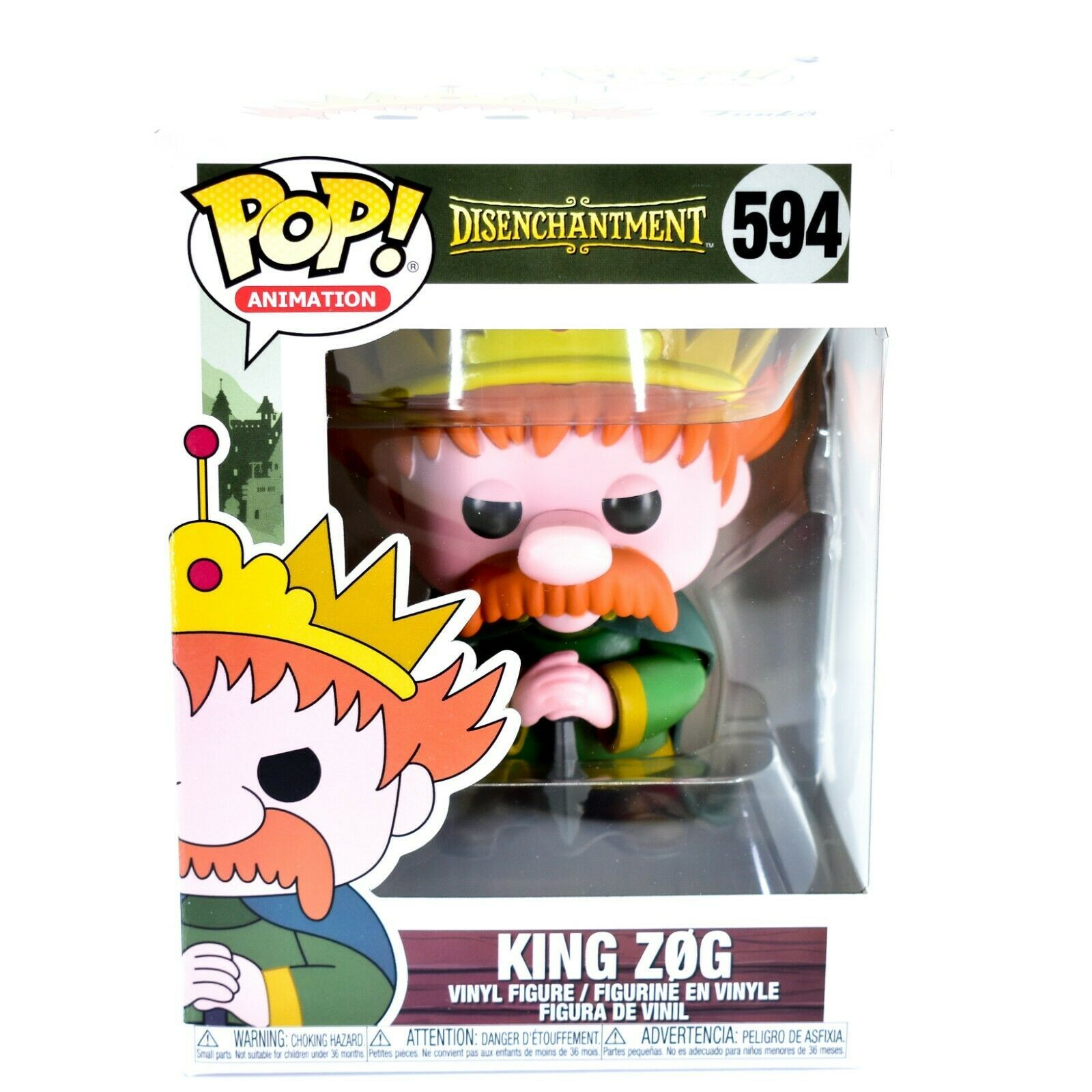 Funko Pop! Animation Disenchantment King Zog #594 Vinyl Action Figure