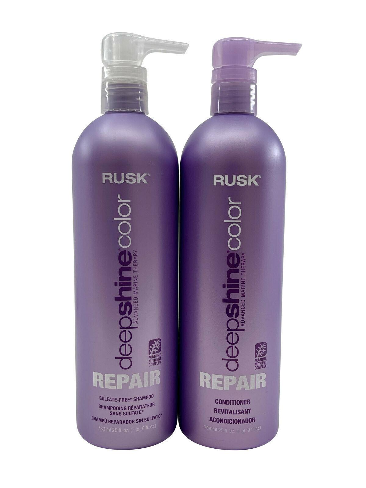 Rusk Deep Shine Color Repair Shampoo & Conditioner Set 25 OZ Each - $40.97
