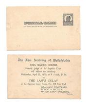 McKinley Postal Card UX19 Law Academy of Philadelphia Hon Dimner Beeber ... - $9.95