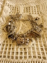 Vintage Sterling Silver 925 Loaded With Charms Charm Bracelet - $350.00