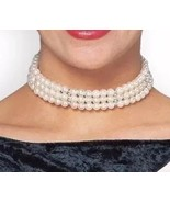 Faux Pearl Shimmer Choker Necklace Hollywood Style Fancy Dress Costume A... - $6.83