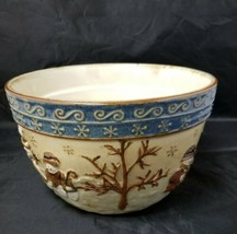 "St. Nicholas Square Serving Bowl Forest Friends  9 1/2"" x 6"" Christmas H... - $33.51"