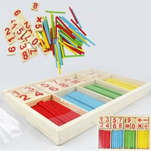 Bamboo Counting Sticks Toy Montessori Teaching Aids Learning Math Educat... - $11.87