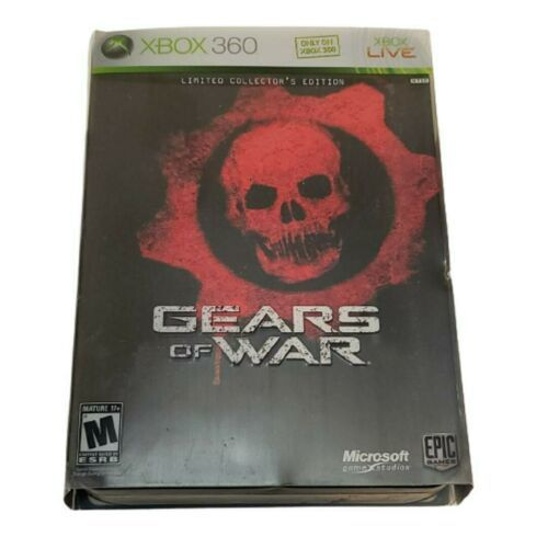 Xbox 360 Gears of War Limited Collector's Ed Steelbook (Complete, 2006, 2-disc) - $27.04