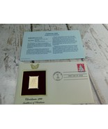 Christmas Traditions  22kt Golden Replica Stamp 1990 First Day Stamp  - $19.79