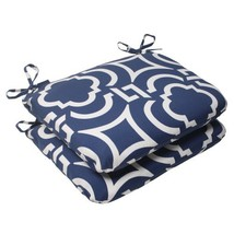 Pillow Perfect Outdoor/Indoor Carmody Navy Round Corner Seat Cushions, B... - £59.86 GBP