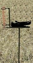 Canoe Rain Guage - Rustic Metal Cabin Lodge Garden Yard Decor - $38.00
