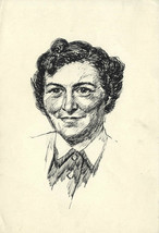 Robert Forrester - Mid 20th Century Pen and Ink Drawing, Portrait Study - $22.40