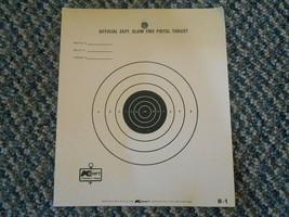 Old Vintage Kmart Official 25ft Slow Fire Pistor Target Sheet B-1 Bullse... - $9.99
