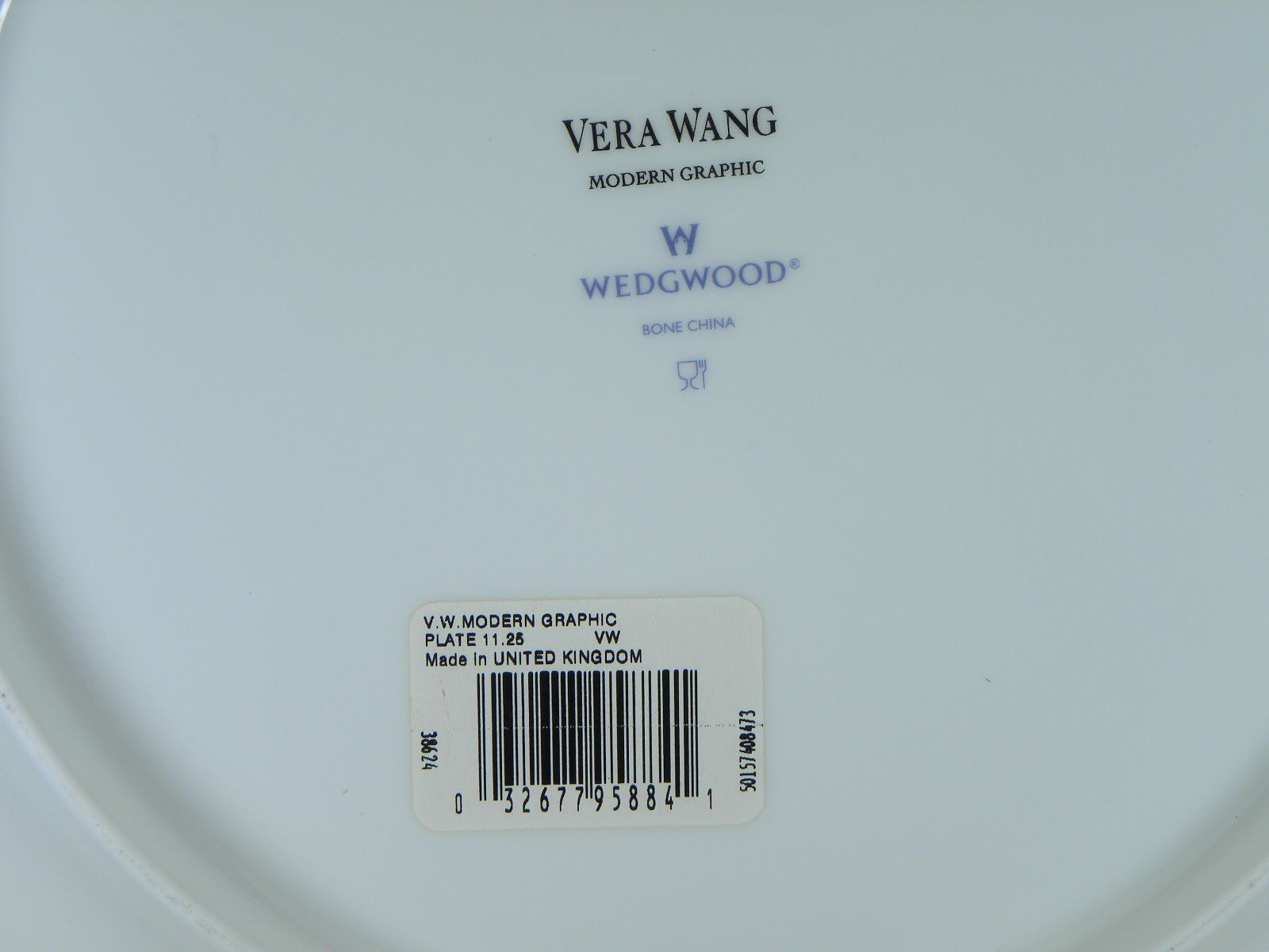 Vera Wang By Wedgwood Modern Graphic Dinner Plate NEW WITH TAGS Made in UK image 2