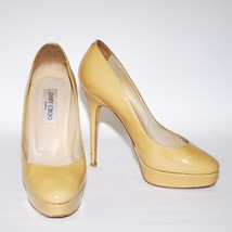 CHOO Leather Round Beige US Pumps Patent Heels High Toe Shoes JIMMY Stilettos 7 dx8qw8