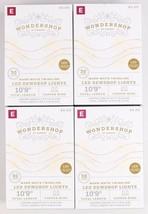 "4X Wondershop Dewdrop String LED Lights 30 ct Warm White Twinkling 10'9"" NIB"