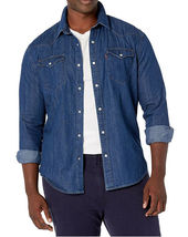 Levi's Men's Big & Tall Barstow Western Pearl Snap Casual Denim Dress Shirt image 7