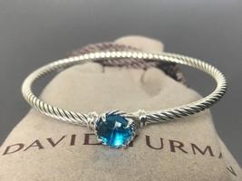 $350 DAVID YURMAN Women's 3mm Chatelaine Bracelet with Blue Topaz - $199.99