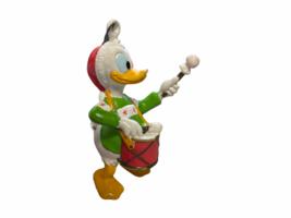 Donald Duck Santa Hat Playing Drum Plastic Christmas Tree Ornament Walt ... - $12.99