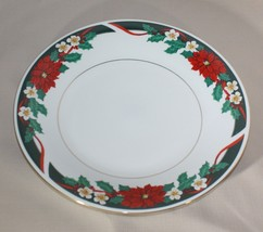 Dinner Plate Tienshan Deck the Halls Poinsettia... - $6.44