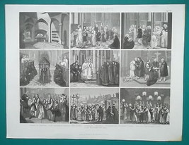 RELIGIOUS RITES Sacrament Holy Orders Burial Russia Baptism - 1870s Supe... - $19.80