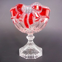 """Celebrations by Mikasa Footed Bowl Ruby Ribbon Collection 4.75"""" Glass Display - $17.75"""